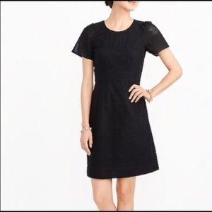 NWT J Crew Factory Black Eyelet Dress